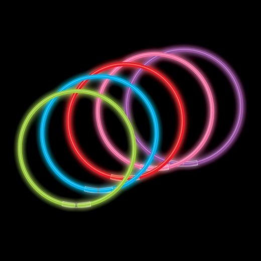 50-Pack 22 Inch Glow Necklaces - Assorted Colors