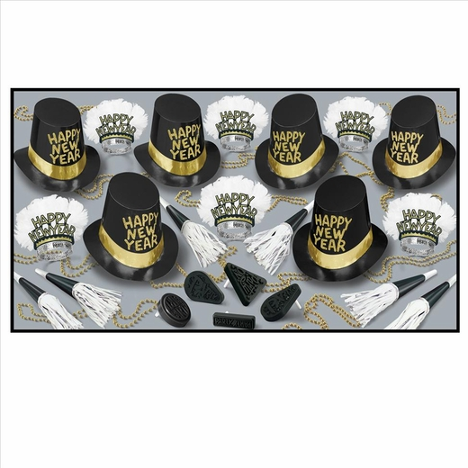 Midnite Hour New Years Eve Party Kit For 50