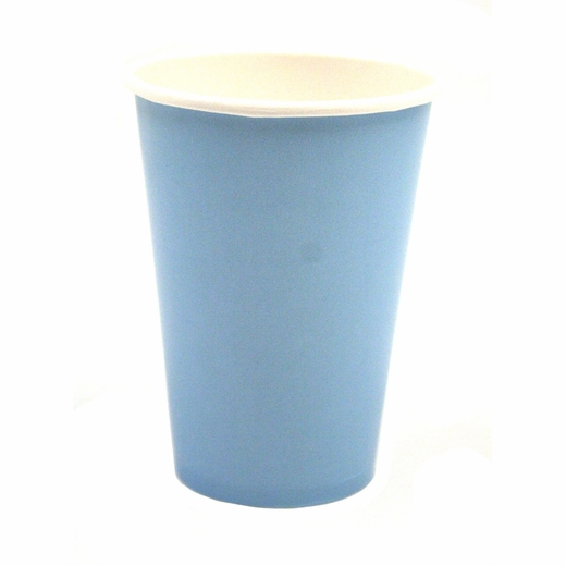 Baby Blue 12 Ounce Paper Cups