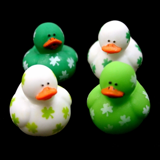 St Pats Mini Shamrock Rubber Ducks