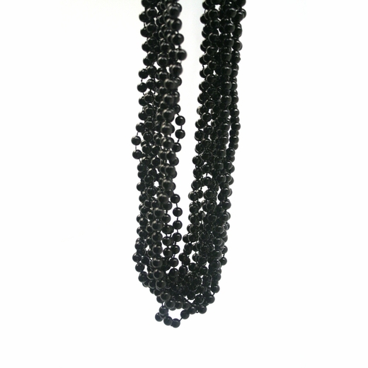 Black Throw Bead Necklaces
