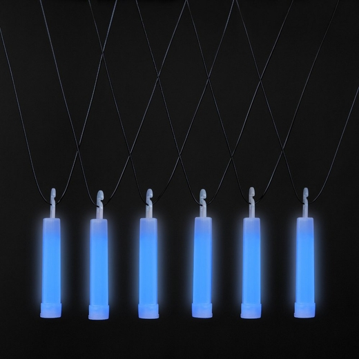 Blue Glow Stick Necklaces