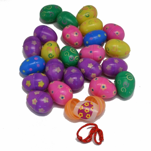 Toy Filled Hinged Printed Easter Eggs