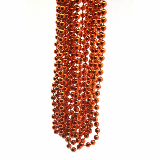 Metallic Orange Throw Bead Necklaces