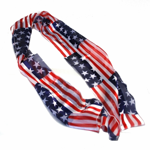 Red White And Blue USA Patriotic Scarf