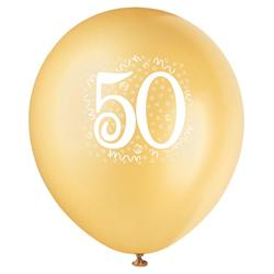"12"" Gold ""50"" Balloons"
