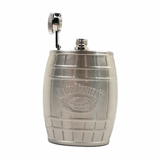 4oz Jack Daniels Barrel Flask