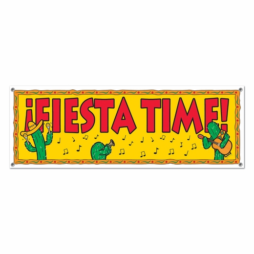 Fiesta Time Sign Banner