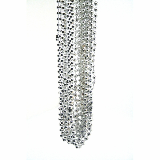 Metallic Silver Throw Bead Necklaces