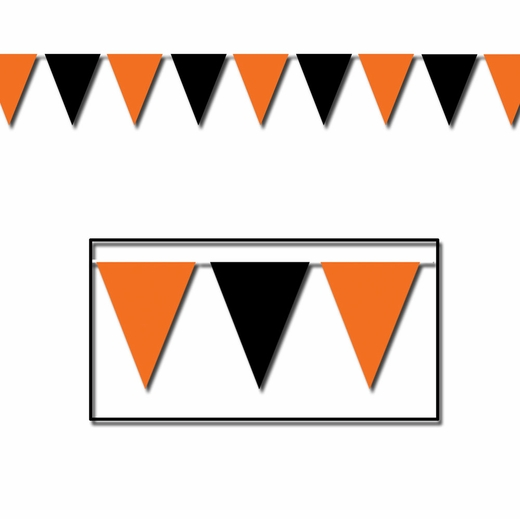 Orange And Black Pennant Banner