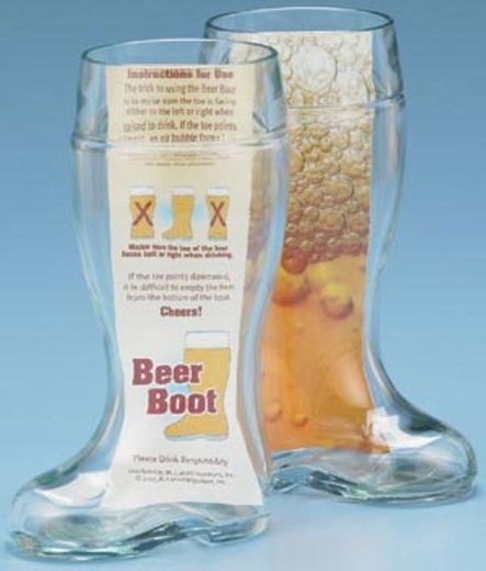1.0L Glass Beer Boots