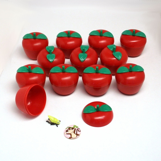 Toy Filled Plastic Bobbing Apples