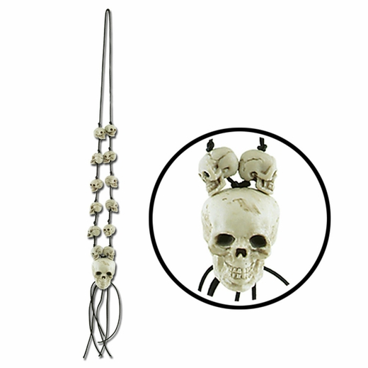 "42"" Skull Bead Necklace"