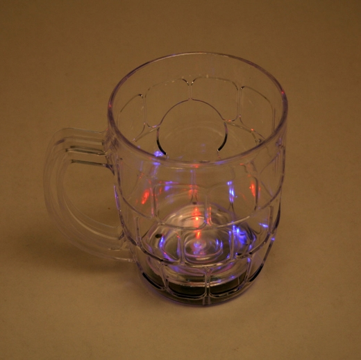 Flashing Plastic Beer Mug