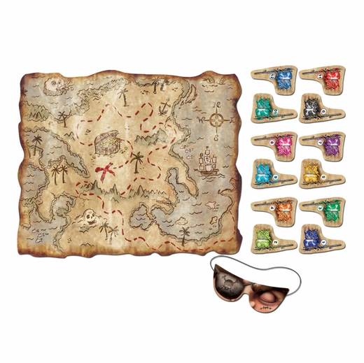 Pin The Flag On The Treasure Game