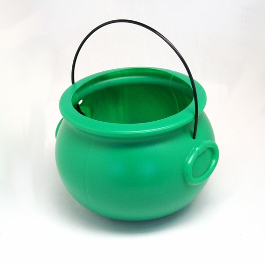 Green Plastic Cauldron