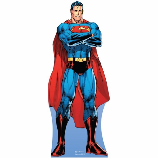 Arms Folded Lifesized Superman Cartoon Standup