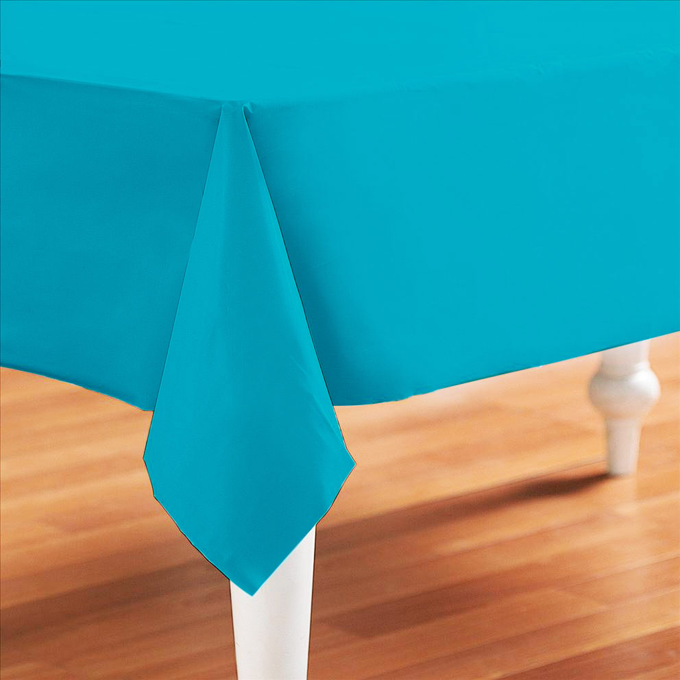 eBay & Details about Caribbean Teal Plastic Table Cover - Rectangle