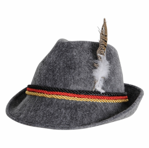 Grey German Tyrolean Hat