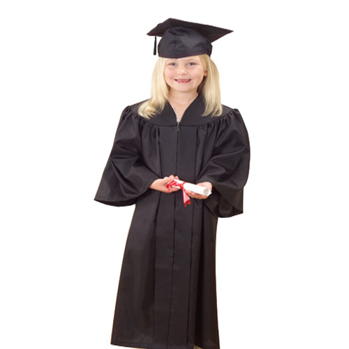 Childs Black Graduation Cap And Gown