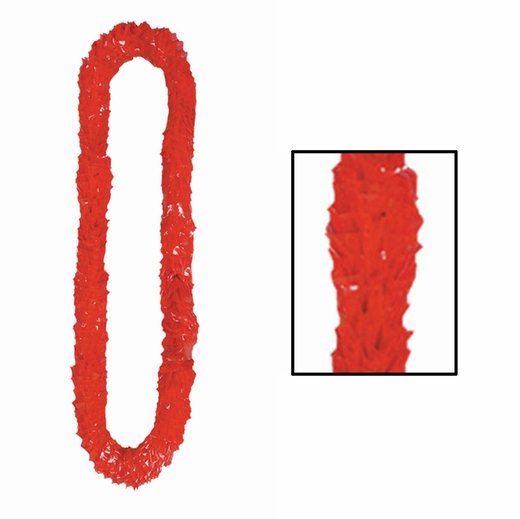 Soft Twist Red Poly Leis