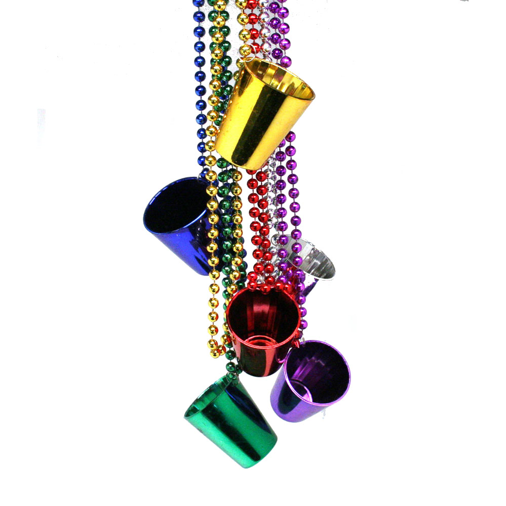 yhst glass shot gras necklaces beads mardi bead carnival