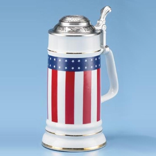 Stars And Stripes Porcelain Steins