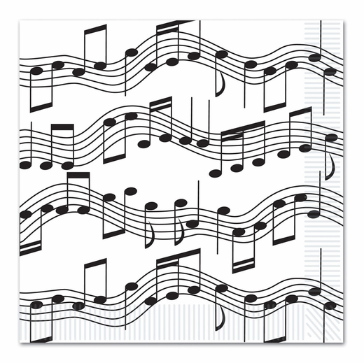 Music Notes Dinner Napkins