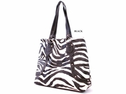ZEBRA PRINT TALL SHOPPER