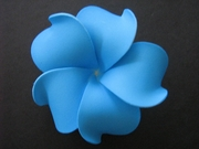 Solid Blue Plumeria Foam Flower Hair Clip Solid Blue