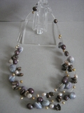 MOTHER OF PEARL MULTILAYERED BEADED NECKLACE