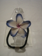 PLUMERIA FLORAL ELASTIC HAIR BAND