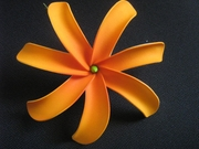 6 Inch Tiare Flower Hair Pick-Orange