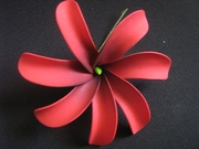 6 Inch Tiare Flower Hair Pick-Red