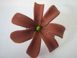 "Mini Tahitian Gardenia ""Tiare""  Flower-Sienna Brown"