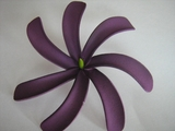 "4"" TAHITIAN GARDENIA TIARE  COLORED FLOWER- Solid Deep Purple"