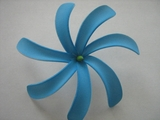 "4"" TAHITIAN GARDENIA TIARE  COLORED FLOWER- Solid Blue"