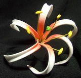 "4""  SPIDER LILY ROLLED PETALS FOAM FLOWER HAIR PICK"