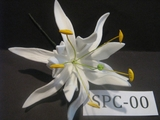 "4.3""  SPIDER LILY DOUBLE Curved PETALS FLOWER PICK-All White"