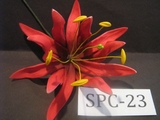"4.3""  SPIDER LILY DOUBLE Curved PETALS FLOWER PICK-Red"