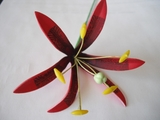 "3.5""  Spider Lily Tribal Print Foam Flower Hair Pick"