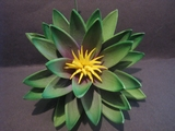 "3.5"" Lotus Flower w/ Lily Pad- Green"