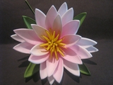 "3.5"" Lotus Flower w/ Lily Pad- Light Pink"