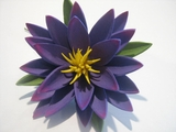 "3.5"" Lotus Flower w/ Lily Pad- Purple"