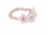 Fimo  Plumeria Flowers Elastic Toe Hawaiian Ring Pink