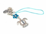 Hawaiian Turtle Honu Phone Charm Strap Blue