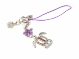 Hawaiian Turtle Honu Phone Charm Strap Purple