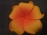 PLUMERIA FLOWER HAIR CLIP Orange w/ Red Center