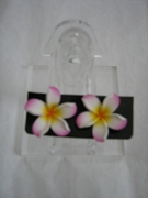 HAWAIIAN PLUMERIA FIMO FLORAL EARRINGS MEDIUM