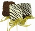 BOX OF 6 CARAMEL DIPPED CHOCOLATE COVERED RICE KRISPIES ON A STICK